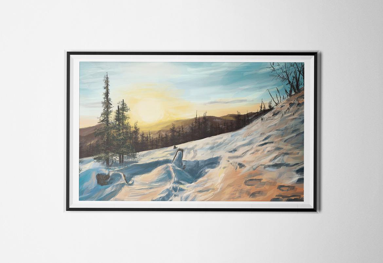 Krajobraz zimowy - Digital painting