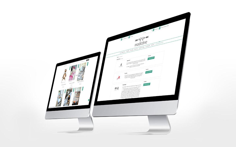 Projekt strony internetowej - Modicone