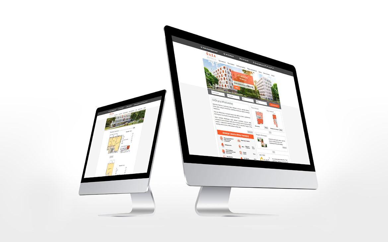 Projekt strony internetowej - Oaza przy Włościańskiej