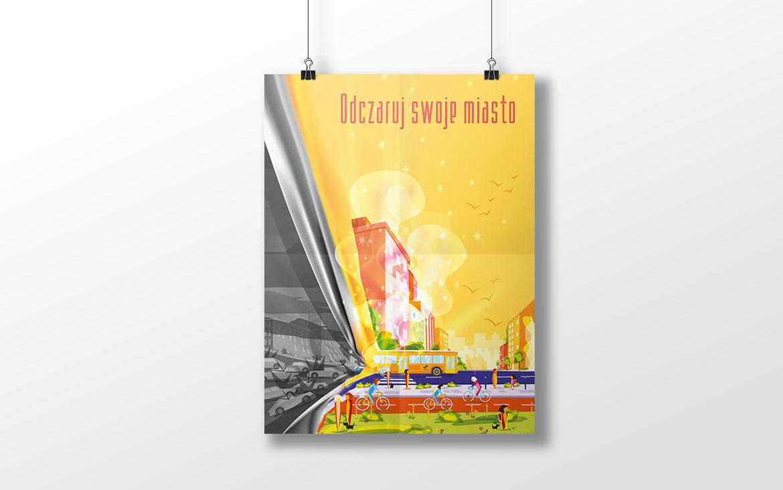Projekt plakatu Odczaruj swoje miasto - ekologia