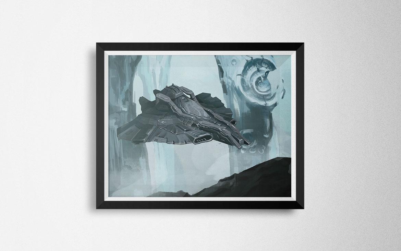 Statek kosmiczny - Digital Painting