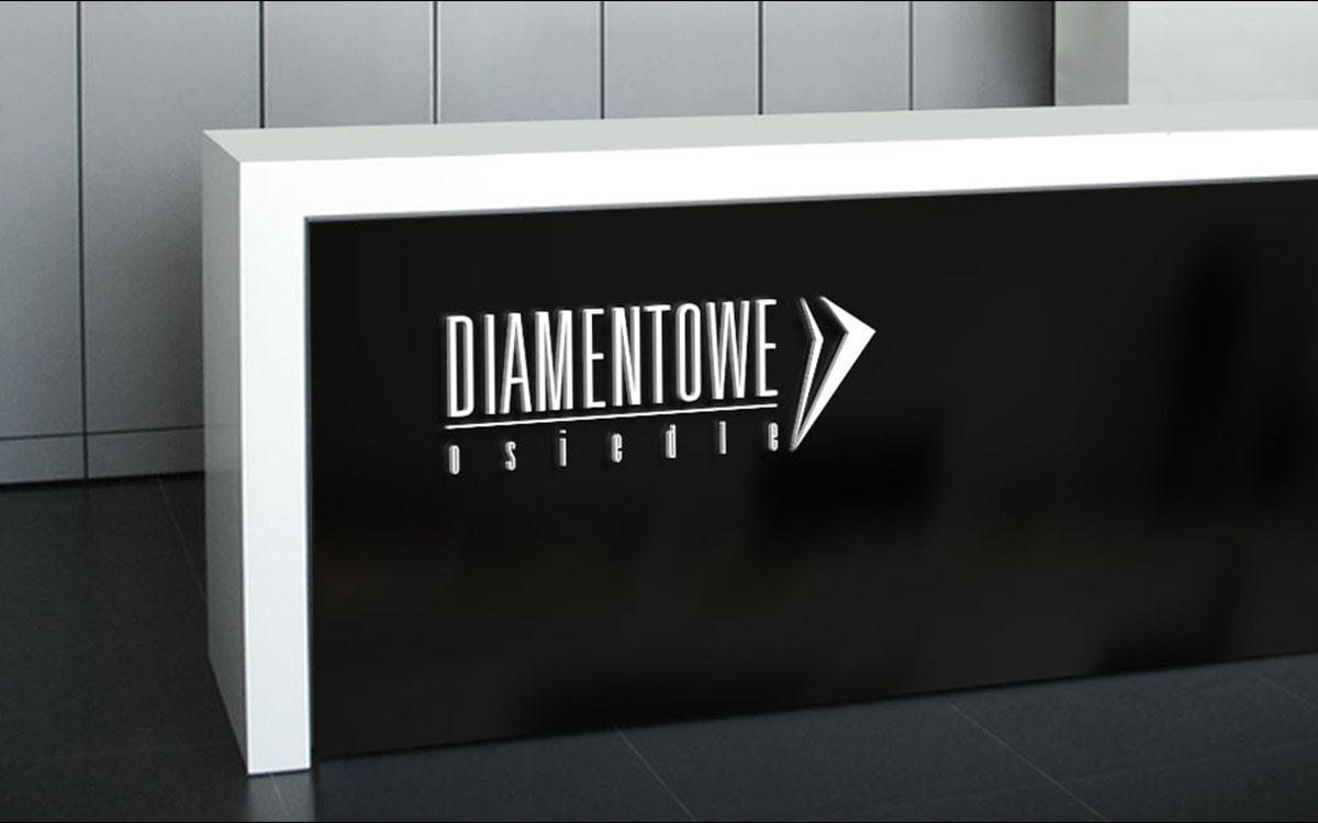 Projekt logo na recepcje - Diamentowe Osiedle