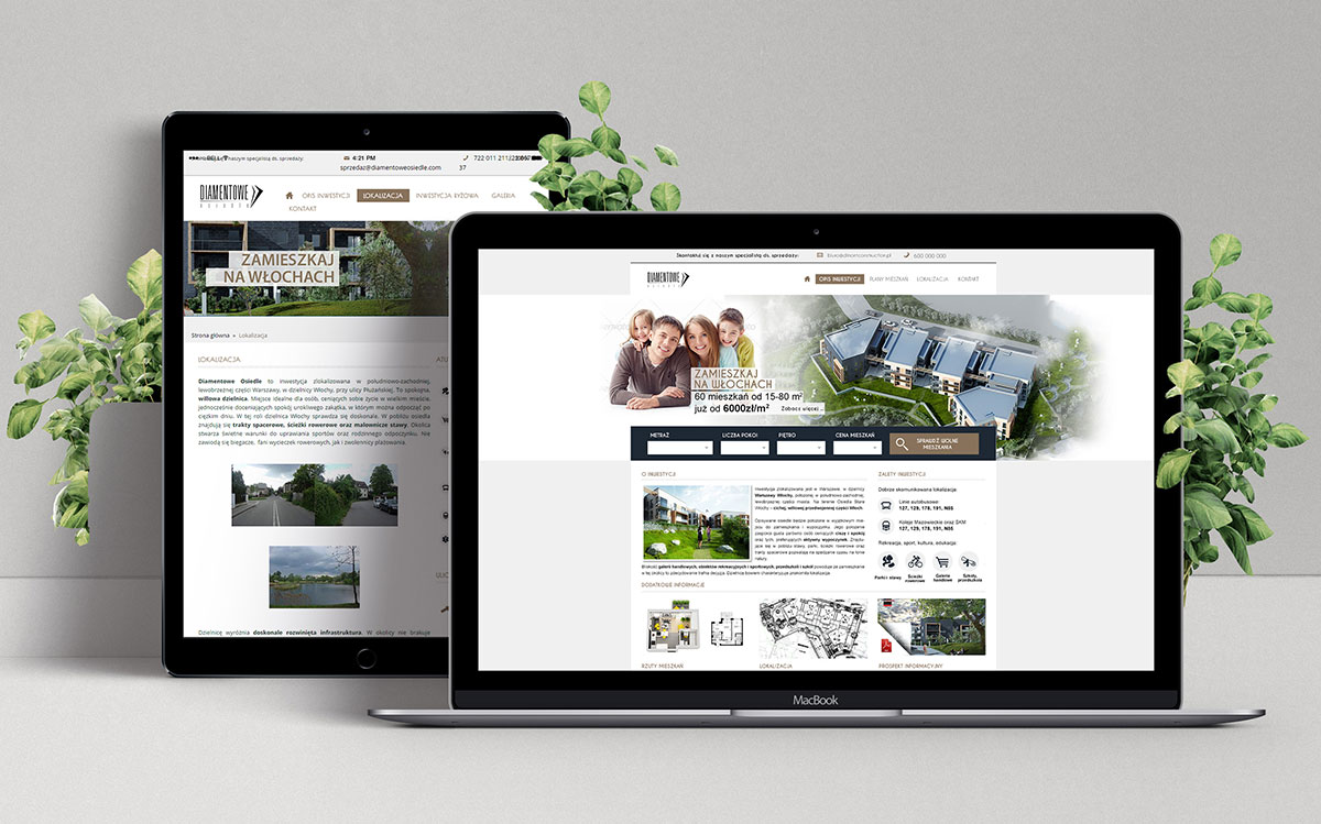 Projekt strony internetowej - Diamentowe osiedle