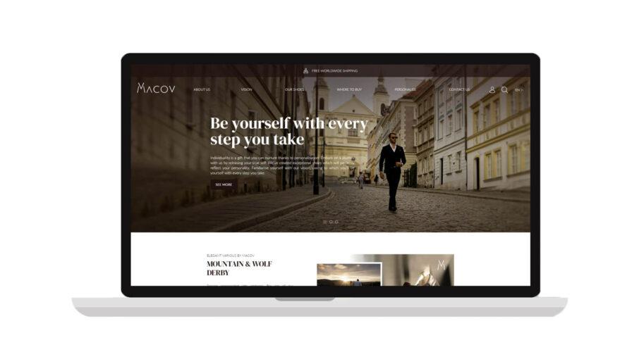 Strona internetowa dla produktu marka premium